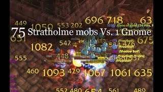 Mage Vs. World #4 - 75 mobs in 2 pulls in Stratholme (Strat UD) - Classic WoW
