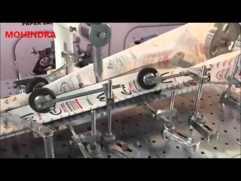 paper bag making machine, White and Brown Cover Grocery Carry Bag Making Machine (09999778804)