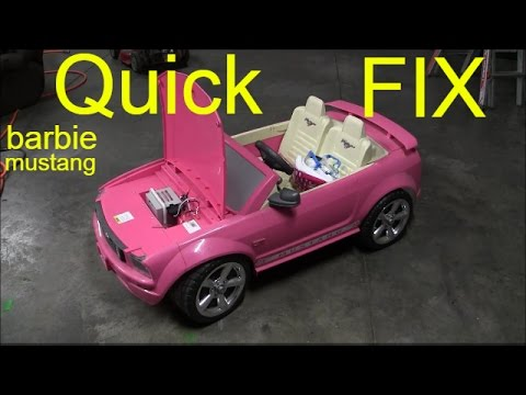 How To Charge Barbie Mustang