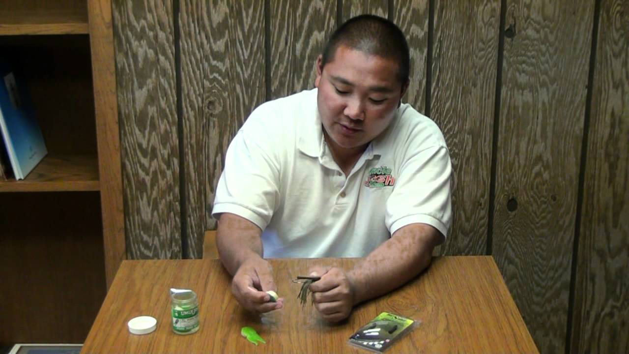 Hook removal from pork baits youtube for Pork rind fishing