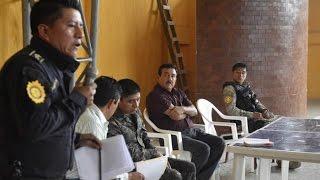 Juntas de seguridad en el municipio de San Rafael Pie de la Cuesta