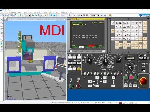 MACHINING CENTER FANUC   MDI การสั่งเครื่องทำงานด้วย G CODE