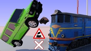 Vids For Kids In 3d (hd) - Trains, Cars And Railroad Crossings Crashes 2 - Aapv