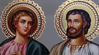 Сумская Икона Апостолы Филипп и Варфоломей Обзор Готовой Работы Написанной в Иконописной Мастерской