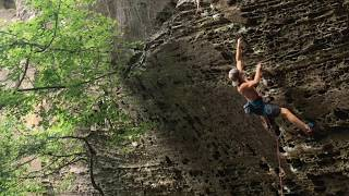 Scar Tissue 5.12a, Red River Gorge (raw ascent footage)