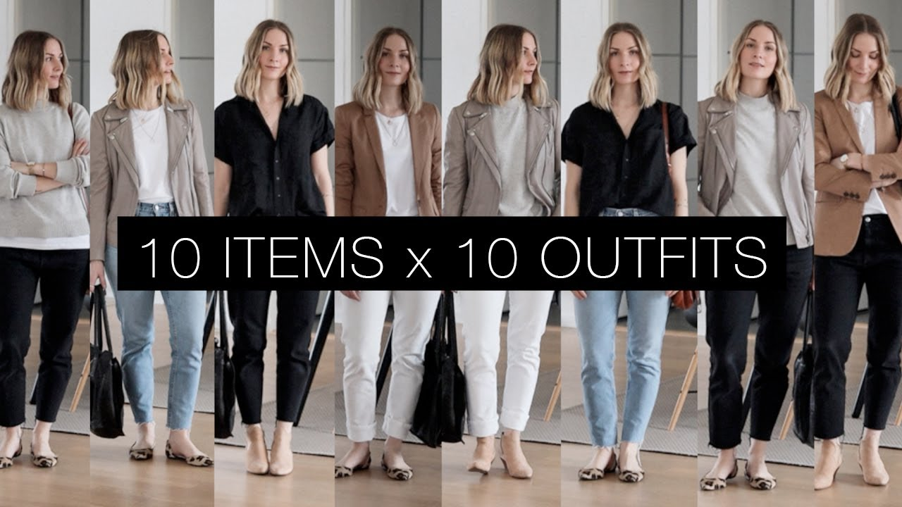 10 items x 10 outfits | Spring capsule lookbook 3