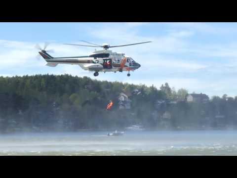 Super Puma rescue demonstration, Turku, Finland 2017