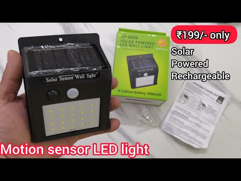 Solar Powered Motion sensor led wall light unboxing
