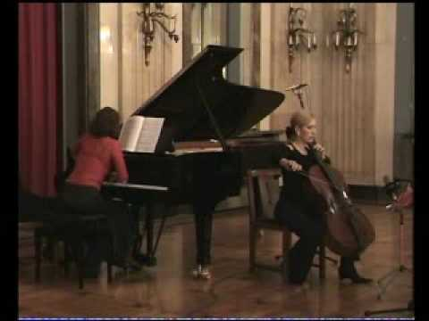 Shostakovich cello sonate Op.40  1.mov.Sanja Jancic-cello  Aurelie Tremblay-piano