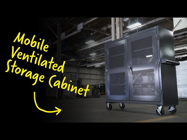Mobile Ventilated Storage Cabinet | Strong Hold