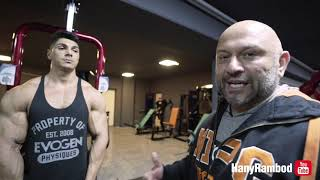 Hany trains Phil Heath and Andrei Deiu with a FST-7 Arm workout at FIBO