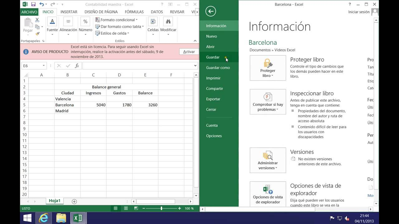 Excel 2013 - Enlazar datos de un libro a otro - YouTube