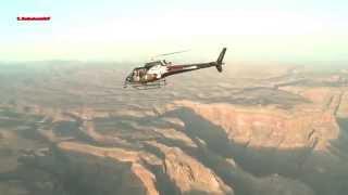 L'uomo volante sul Grand Canyon