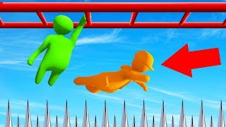Can You WIN NINJA WARRIOR In HUMAN FALL FLAT? (impossible)