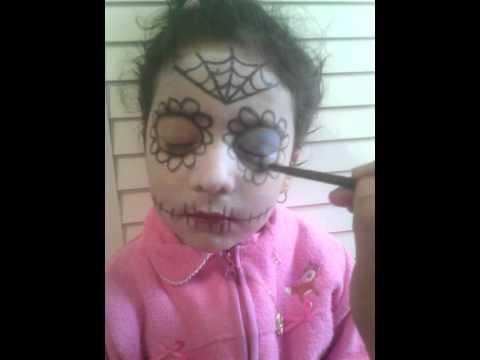 Tutorial maquillaje Catrina para niñas