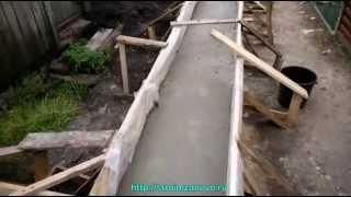 видео Бутобетонный ленточный фундамент своими руками