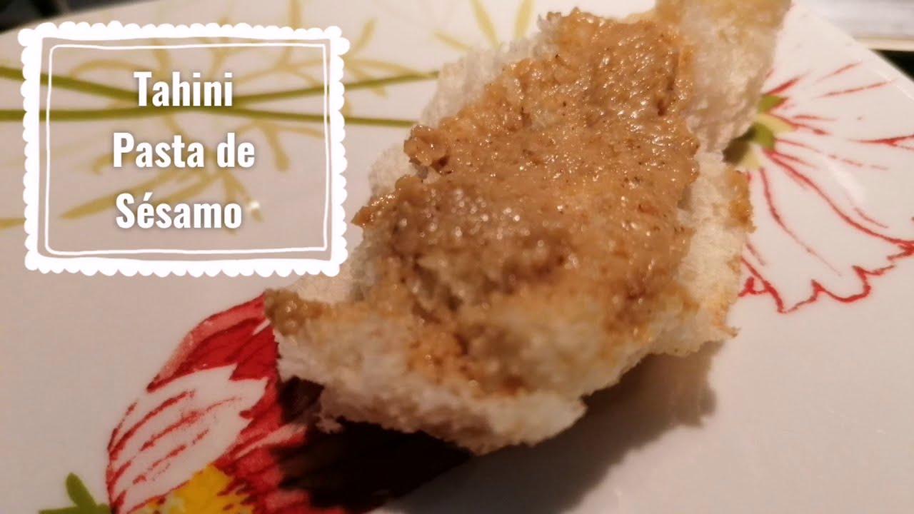 Salsa de Tahini o pasta de sésamo con Magic bullet, mantequilla de ajonjolí