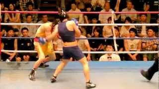 関東大学ボクシング 井上浩樹 拓殖大 vs 山口弘介 法政大 2012.7.14