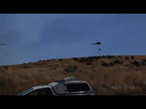 Chch wildfires and helicopters