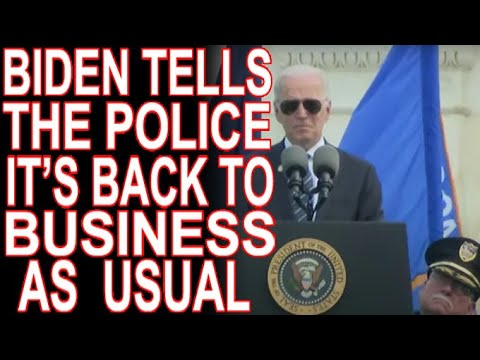 Biden Doubles Down On Backing The Badge & Fear Will Be Dems Strategy for 2022 And Beyond