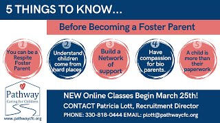 "Foster Parent Info Session: Feb 2021 ""5 Things to Know Before Becoming a Foster Parent"""