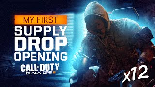 Black Ops 3 - MY FIRST SUPPLY DROP OPENINGS! (12 TOTAL)