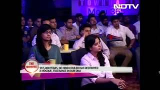 Gadkariji about RSS on Barakha's NDTV show