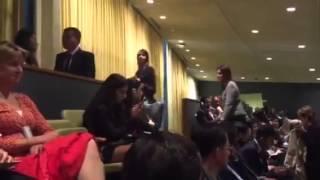 Членов украинской делегации с флагом вывели из зала Генассамблеи ООН и лишили аккредитации