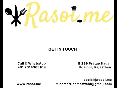 Rasoi.me Homemade food Products Catalogue Launch from @Martina Motwani | Rasoi.me