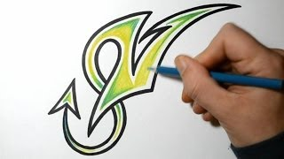 How to Draw Wild Graffiti Letters - V
