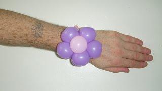 Цветок браслет из шариков