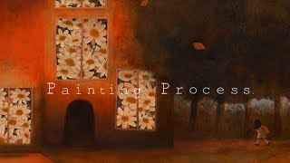 """Painting Process:수채화 일러스트/Watercolor illustration """"My home"""" by jiyeon"""