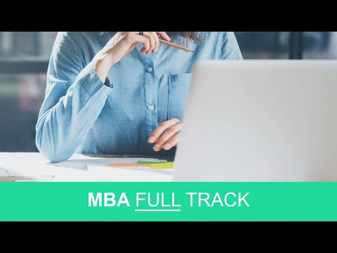 MBA FULL Track, accounting, marketing, management, and finance online class for MBA students