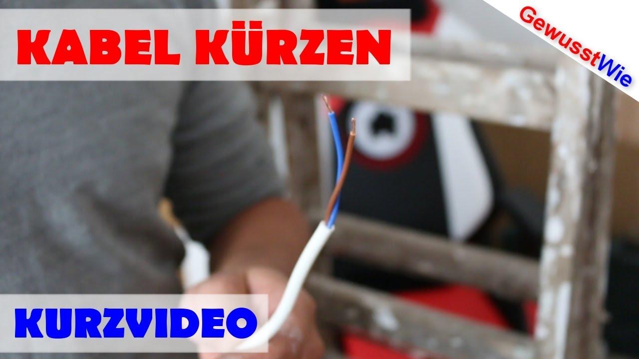 Top Kabel kürzen, Drähte abisolieren - ohne Spezialwerkzeug UJ26