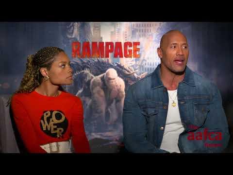 AAFCA Report Dwayne Johnson & Naomi Harris Rampage