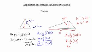 Application of Formulas in Geometry