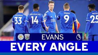 EVERY ANGLE   Jonny Evans vs. West Bromwich Albion   2020/21
