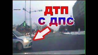 ДТП с машиной ГИБДД в Тюмени.