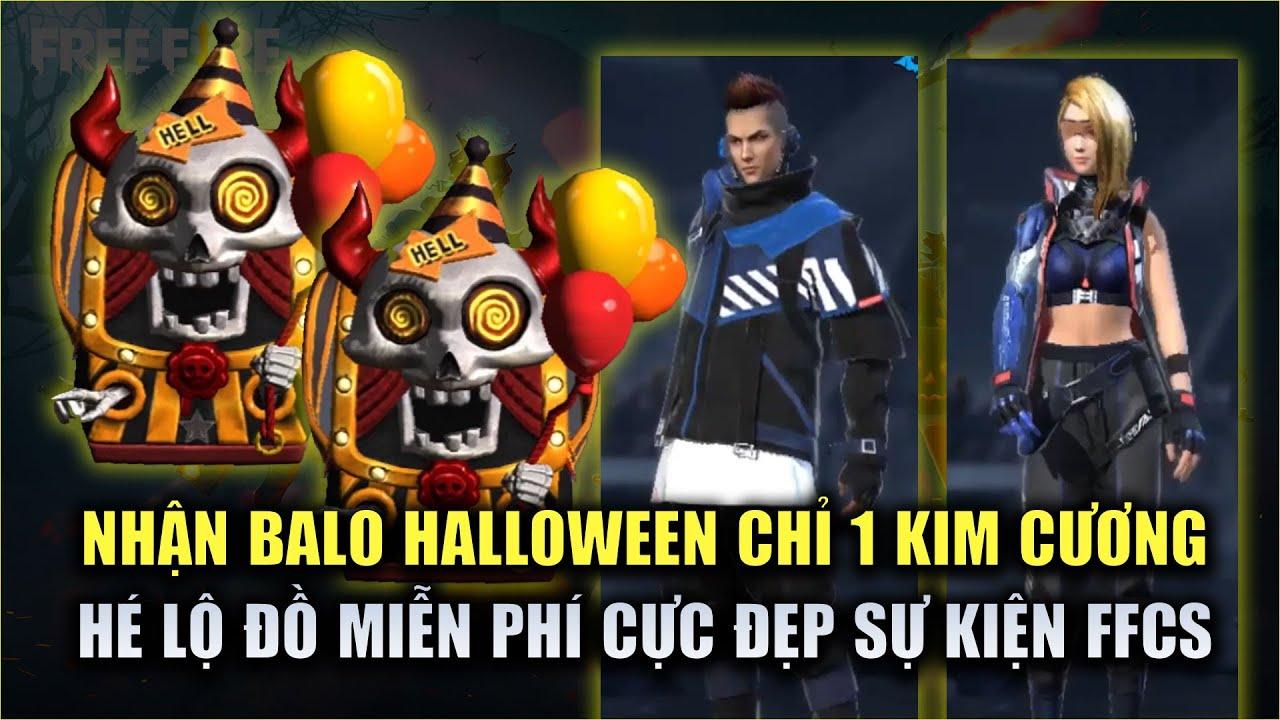 Free Fire | Nhận Balo Halloween Chỉ Với 1 Kim Cương - Hé Lộ Đồ FREE Cực Đẹp FFCS | Rikaki Gaming