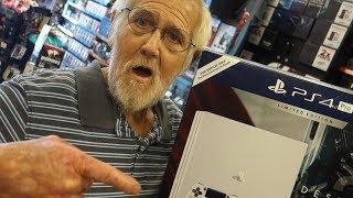 GRANDPA BOUGHT A PS4!!