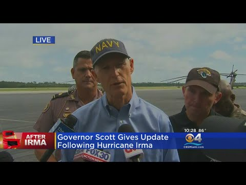 Florida Governor Rick Scott With The Latest Update On Hurricane Irma Recovery Efforts