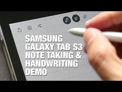 samsung-tab-s3-handwriting-&-note-taking-demo