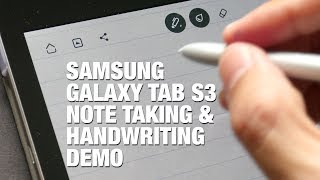 Samsung Tab S3 Handwriting & Note Taking Demo