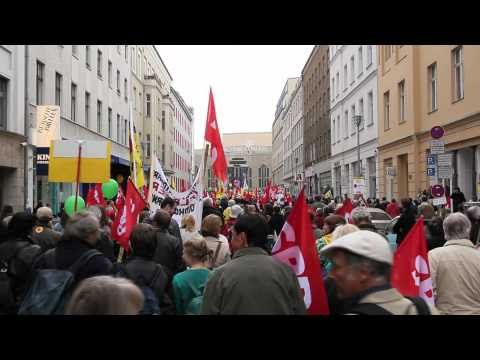Anti Atom Demonstration of Anti Nuclear Power Movement in Berlin Germany