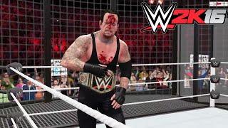 WWE 2K16- WWE World Heavy Weight Championship Elimination Chamber Match 2015 (PS4)