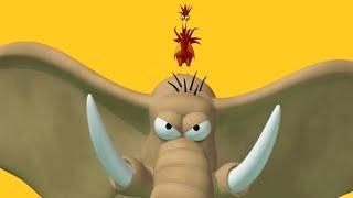 Газон Русский | Злой слон | новые мультфильмы для малышей