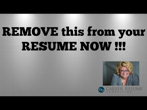 Resume Tips:10 Things to Remove in an Executive Resume