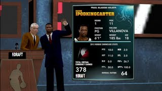 NBA 2K13 MyCAREER - NBA Draft Pick & Contract Negotiations | New Song By JiveTurkey600