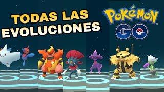 ¡TODAS LAS NUEVAS EVOLUCIONES CON PIEDRA SINNOH EN POKEMON GO!