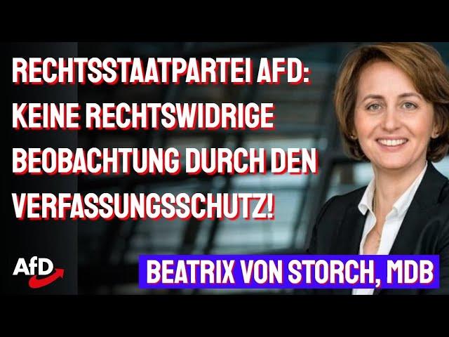 Beatrix von Storch (AfD) - VS-Skandal: SPD-Innensenator übte politischen Druck aus, 23.01.2021